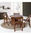 میز و صندلی کمجای ناهار خوری طرح تاشو