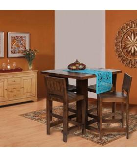 ناهار خوری 4 نفره چوبی طرح میز پایه بلند