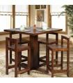 میز و صندلی پایه بلند ناهارخوری چهار نفره