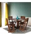 میز و صندلی غذاخوری چهار نفره چوبی طرح دریا