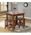 صندلی و میز ناهار خوری نیمکت دار دو نفره چوبی