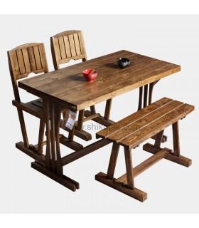 ست میز کرکره ای و صندلی و نیمکت شش نفره