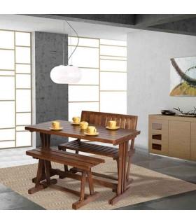 ست ناهار خوری چهار نفره چوبی مدل خورشید