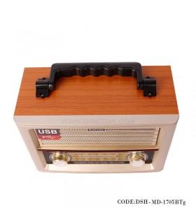 عکس رادیو طرح قدیم چوبی مدل 1705BTg