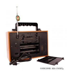 خرید اینترنتی رادیو طرح قدیم چوبی مدل 1705BTg