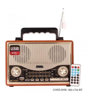 رادیو طرح کلاسیک فلش خور مدل 1706BT