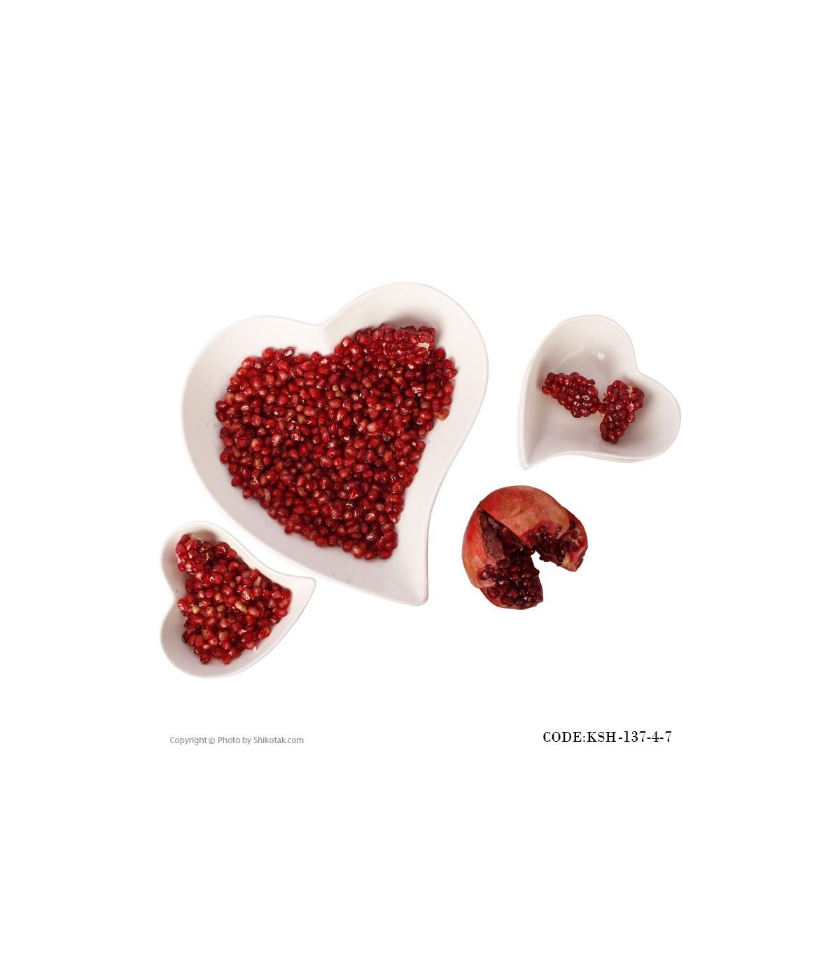 آجیل خوری طرح قلب مدل 137-4-7