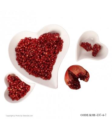 قیمت آجیل خوری طرح قلب مدل 137-4-7