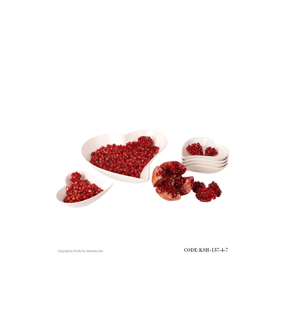 فروش آنلاین آجیل خوری طرح قلب مدل 137-4-7