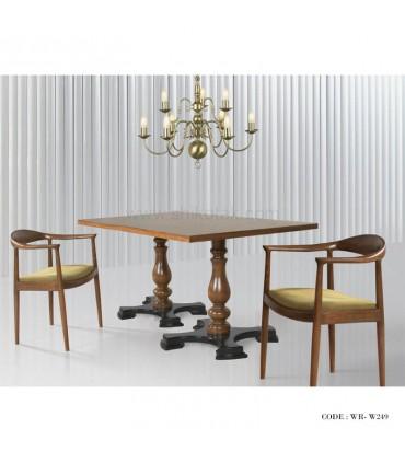 عکس سرویس میز و صندلی ناهار خوری پایه خراطی شش نفره مدل 249