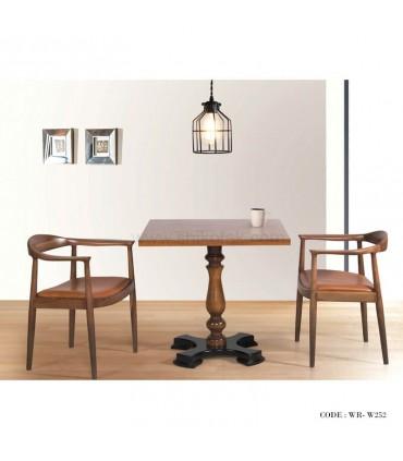 فروش اینترنتی  سرویس میز و صندلی ناهار خوری پایه خراطی شش نفره مدل 249