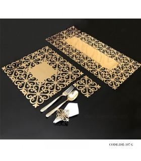 ست لوازم میز ناهارخوری شش نفره طلایی مدل 107
