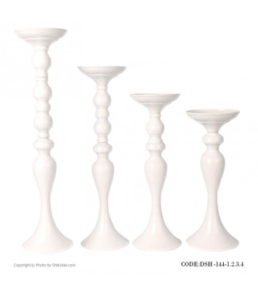 شمعدان سفید طرح ایکیا چهار سایز
