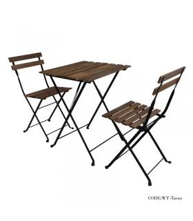 عکس میز و صندلی دو نفره تاشوی تولیکا مدل TARNO
