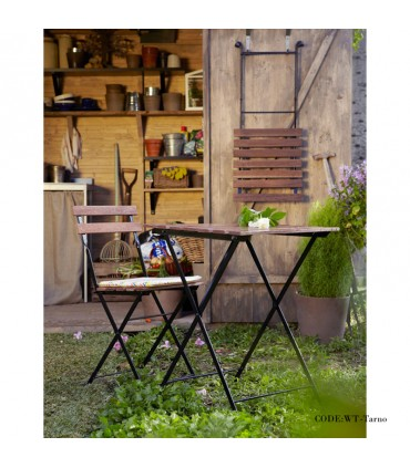 خرید اینترنتی میز و صندلی دو نفره تاشوی تولیکا مدل TARNO