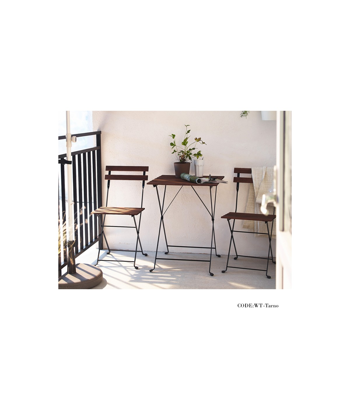 خرید آنلاین میز و صندلی دو نفره تاشوی تولیکا مدل TARNO