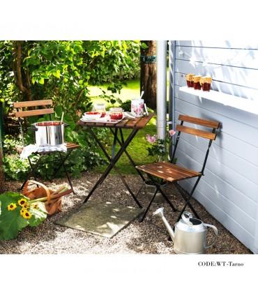 فروش اینترنتی میز و صندلی دو نفره تاشوی تولیکا مدل TARNO