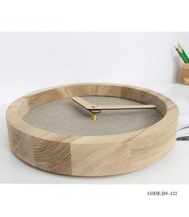 خرید اینترنتی ساعت چوبی دیواری طرح مدرن مدل 122