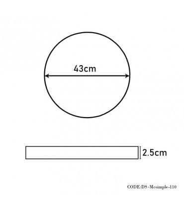 ابعاد ساعت گرد دیواری چوبی مدل 110