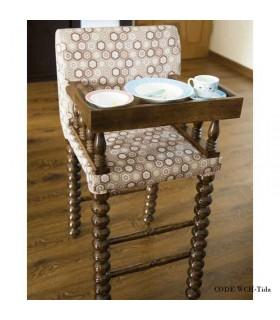 صندلی غذای چوبی کودک تیدا
