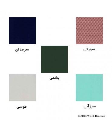 رنگ های پاف گره ای پایه فندقی طرح بروکلی