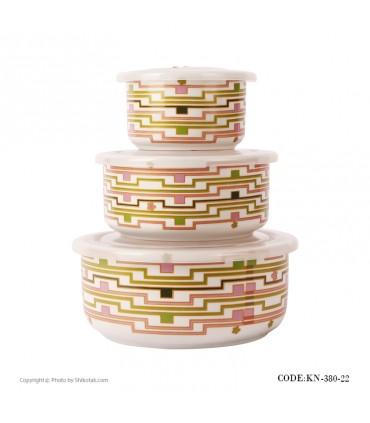 ظرف نگهداری غذا سه تایی مدل 380-22