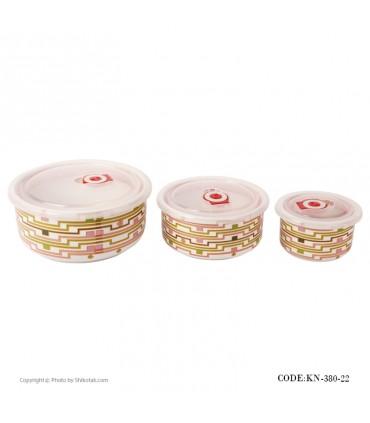 عکس ظرف نگهداری غذا سه تایی مدل 380-22