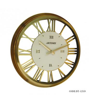 ساعت دیواری فلزی دورو شیشه گلد