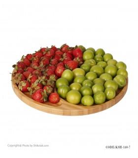 ظرف اردوخوری بامبو گرد با میوه