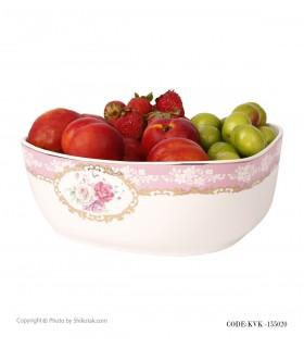 کاسه سرامیکی بزرگ با میوه