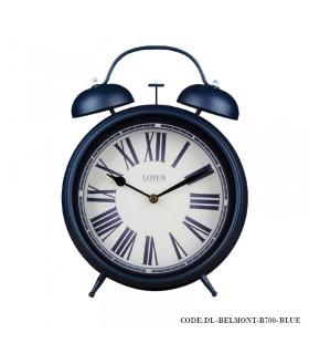 ساعت رومیزی شماطه دار نوستالژی مدل BELMONT آبی