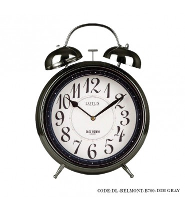 ساعت رومیزی شماطه دار مدل BELMONT خاکستری