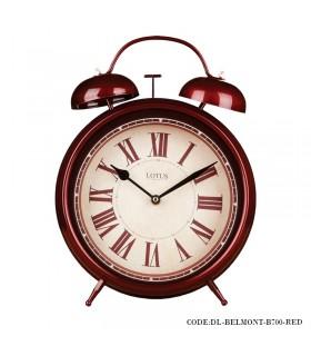 ساعت رومیزی عدد رومی مدل BELMONT زرشکی