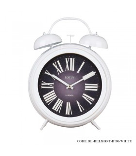 ساعت شماطه دار رومیزی مدل BELMONT سفید