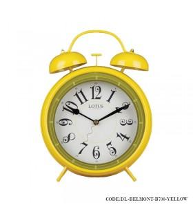 ساعت شماطه دار عدد انگلیسی رومیزی مدل BELMONT زرد