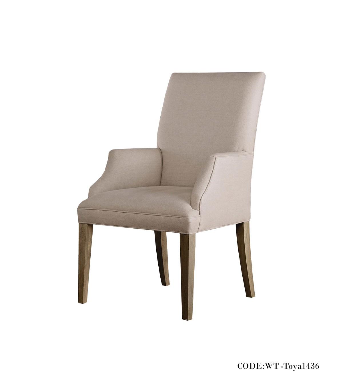 صندلی دسته دار ناهار خوری ساده مدل TOYA