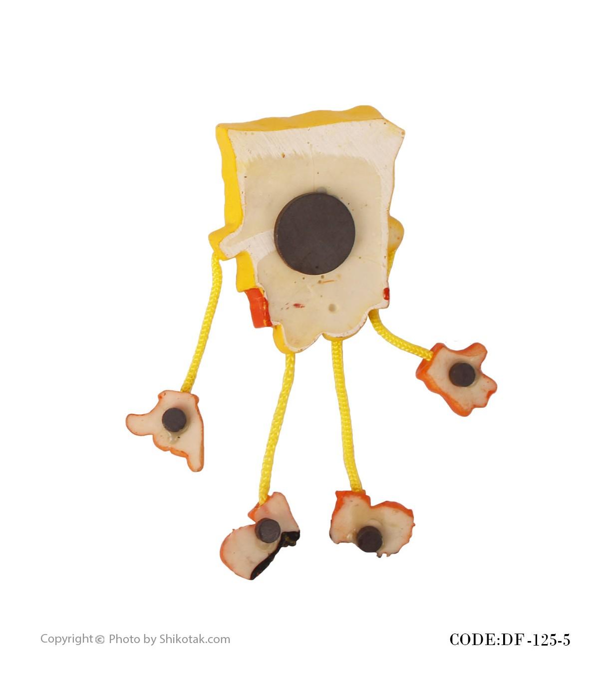 عکس مجسمه آهنربایی باب اسفنجی مدل شلوار طوسی