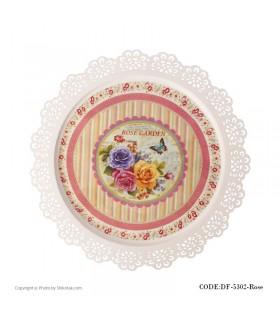 سینی فلزی طرح ایکیا مدل ROSE GARDEN