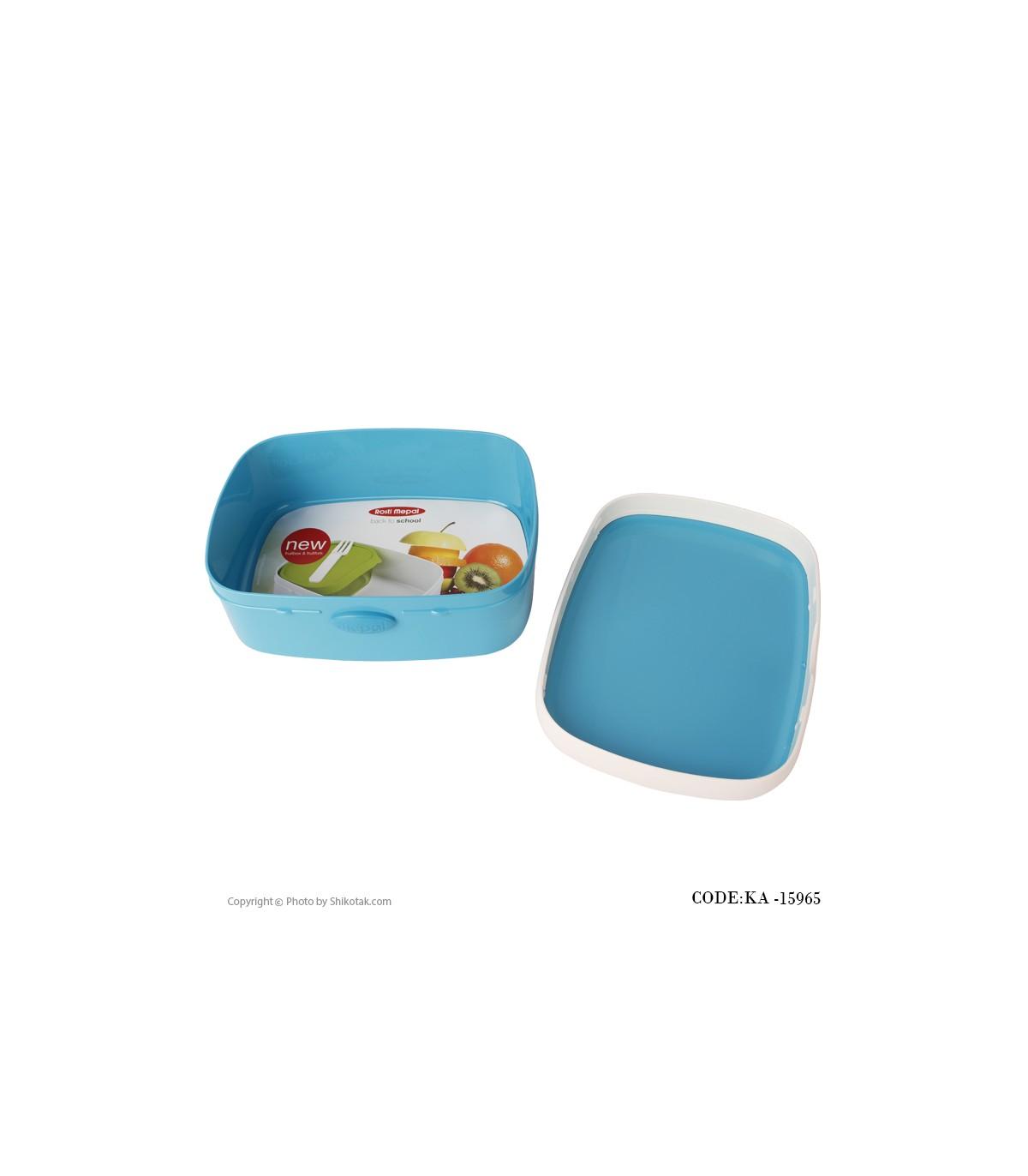 عکس ظرف غذای دربدار تک عددی آبی