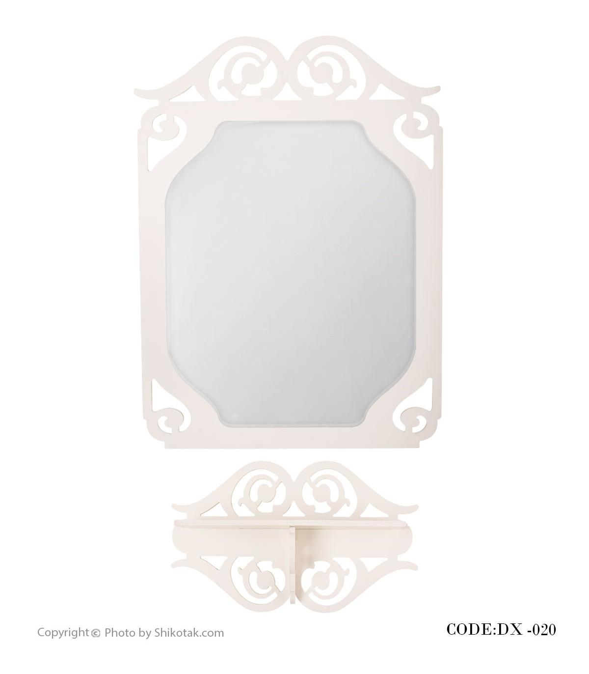 آینه همراه با شلف دیواری مدل 020