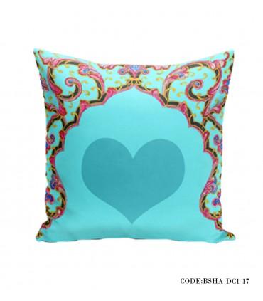 کاور کوسن سری سنتی طرح قلب آبی