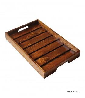 سینی چوبی مدل نرده ای