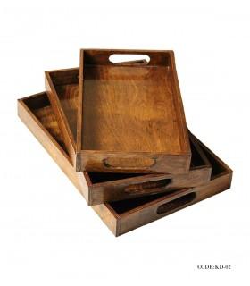 سینی چوبی مدل مینا