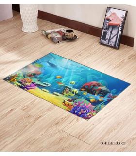 پادری و فرش اتاق کودک طرح اقیانوس مدل 28