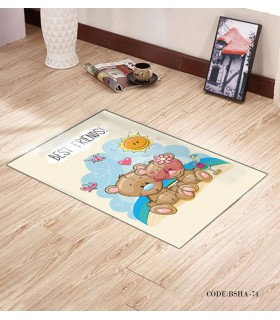 پادری فرش اتاق کودک طرح خرس های شاد مدل 74