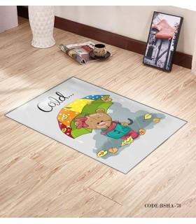فرش و پادری فرش اتاق کودک طرح چتر مدل 78