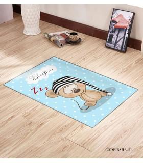 فرش و پادری فرش اتاق کودک طرح SLEEP مدل 81