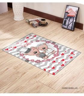 فرش و پادری فرش اتاق کودک طرح WEDDING مدل 83