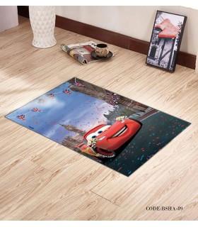 پادری و فرش فرش اتاق کودک طرح مک کویین2 مدل 89