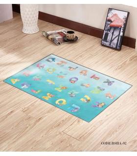 پادری و فرش فرش اتاق کودک طرح ALPHABET مدل 92
